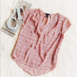 H&M Cap Sleeve Top With Hearts Flowy